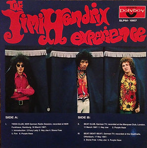 jimi hendrix collector vinyls lp bootlegs/germany 1967