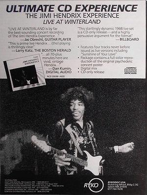 jimi hendrix cd collector /  ad : live at winterland 1968 usa
