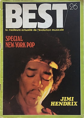 jimi hendrix magazines 1970 / best sept.70 : bestop : N° 4 band of gypsys