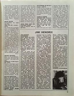jimi hendrix magazine/rock & folk/ lp review : axis bold as love