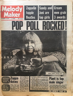 jimi hendrix newspaper 1970 / melody maker : sept.19, 1970 / pop poll