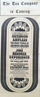 jimi hendrix memorabilia 1968/ ad concert : newspaper