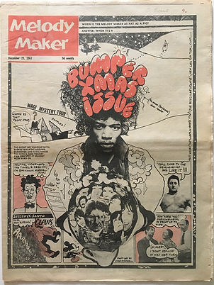 jimi hendrx newspapers/melody maker 23/12/1967