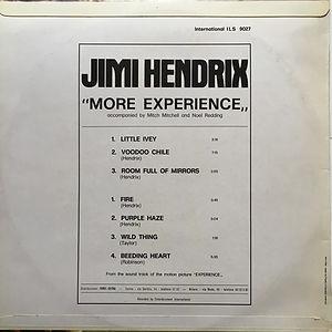jimi hendrix album vinyl/more experience italy  1973