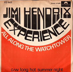 jimi hendrix collector vinyls/south africa. single allalong the watchtower/long hot summer night
