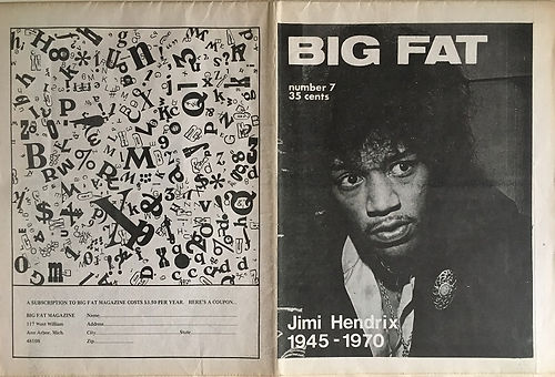 jimi hendrix newspapers: big fat  October 1970