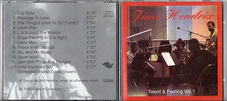 jimi hendrix bootlegs cds 1969 / talent & feeling vol.1