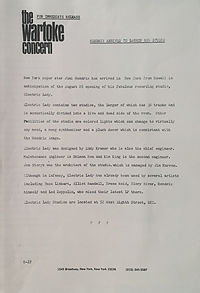 jimi hendrix memorabilia 1970 / letter : hendrix arrives to launch new studio