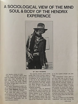 jimi henrix magazine /circus sept.69/ body & soul