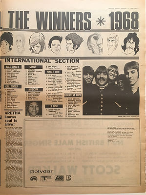 jimi hendrix newspaper/melody maker 21/9/68