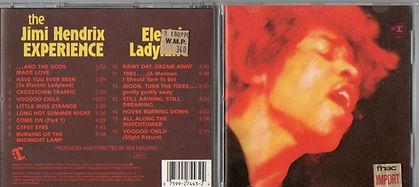 jimi hendrix cd/electric ladyland cd 1988