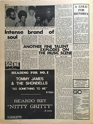 jimi hendrix newspaper/go october 4 1968 : a god for hendrix
