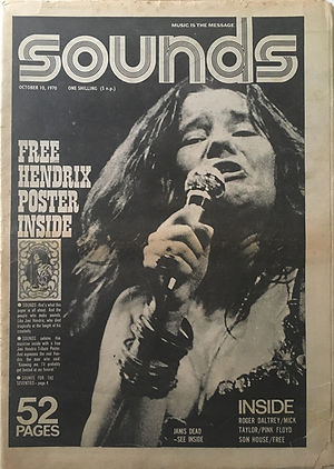 jimi hendrix newspapers 1970 / sounds :  october 10  1970