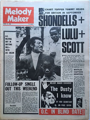 jimi hendrix newspapers/melody maker august 10 1968