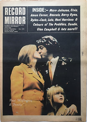 jimi hendrix newspaper 1969/record mirror march 22 1969