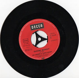 jimi hendrix vinyls singles collector/gloomy monday / decca germany