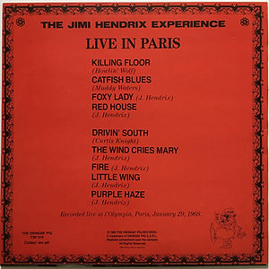 jimi hendrix collector/bootlegs albums lps vinyls/live in paris 1989