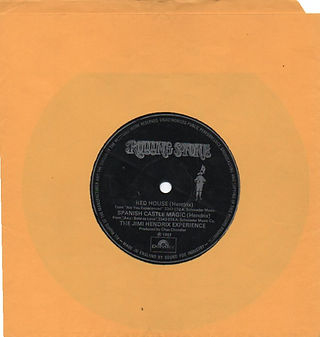 jimi hendrix vinyls flexi disc / rolling stone magazine