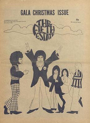 jimi hendrix newspaper 1968/detroit the fifth estate  december 12-25  1968