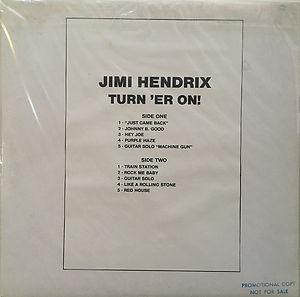 jimi hendrix bootlegs vinyls 1970 /  jimi hendrix turn  'er on!