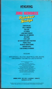 jimi hendrix collector video & dvd /rainbow bridge   1994