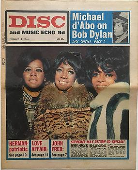 jimi hendrix newspaper/disc music echo 3/2/68