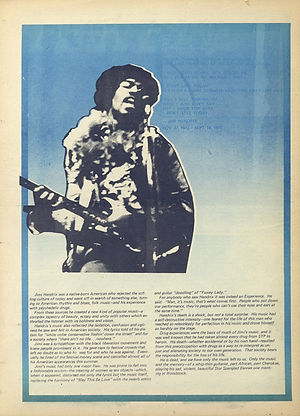 jimi hendrix newspapers 1970 / fifth estate   october 1 - 14 1970