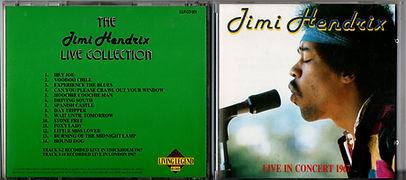 jimihendrix collector cd bootlegs/ live in concert 1967 /living legend 1988
