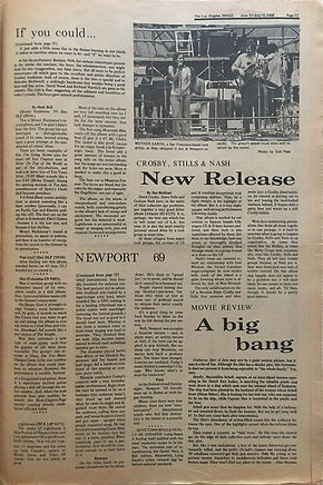 jimi hendrix newspapers 1969 / part 4 newport'69 pop festival