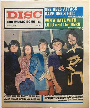 jimi hendrix collector newspaper/disc music echo 2/3/68