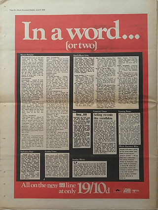 jimi hendrix newspapers 1970 / music business weekly  june 6, 1970,1970