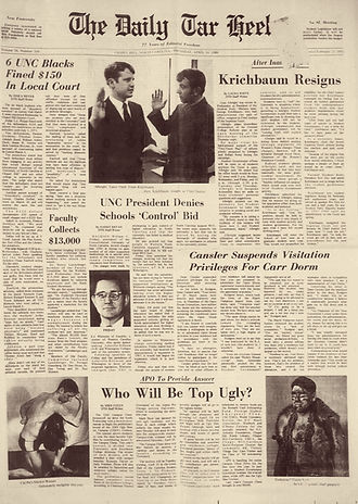 jimi hendrix newspapers 1969/the daily tar heel