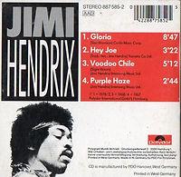 jimi hendrix cd/gloria hey joe voodoo chile purple haze/polydor germany cd
