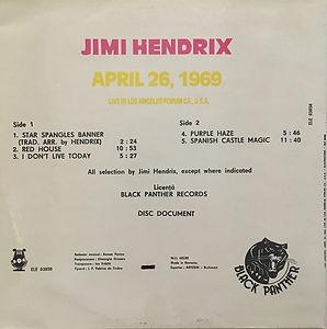 jimi hendrix bootleg vinyl album/jimi hendrix april 26 1969