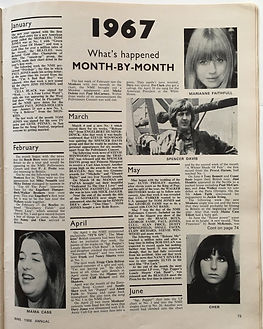 jimi hendix magazine/month by month 1967/new musical express 1968 annual