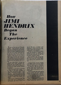jimi hendrix magazines 1969/how jimi hendrix began the experience / hit parader june 1969