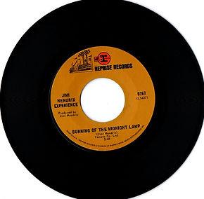burning of the midnight lamp/jimi hendrix rotily singles vinyls collector