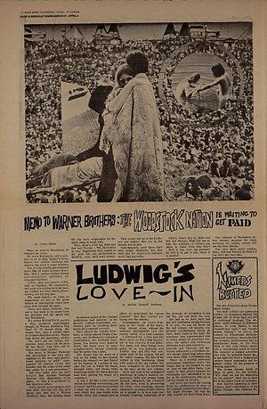 jimi hendrix newspaper 1970 /berkeley barb   march 27 / april 2, 1970 woodstock nation