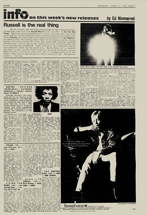 jimi hendrix newspaper 1969/ go set march 19, 1969 new zealand