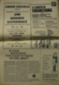 jimi hendrix collector newspaper/manchester independent / november 7 1967  / jimi hendrix experience ad concert nov.9 1967