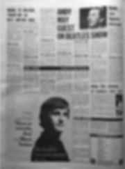 jimi hendrix nwspaper 1968/melody maker 12/14/68