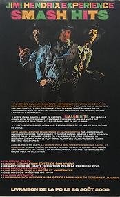 jimi hendrix memorabilia/smash hits promotion from france 2002