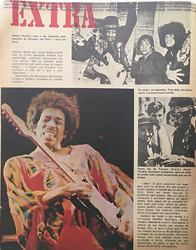 jimi hendrix magazines 1970 death/  o seculo ilustrado : october 17,1970 /portugal