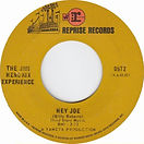 jimi hendrix collector singles vinyls 45r/2nd edition usa hey joe 1969