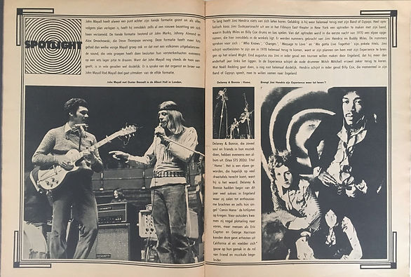 jimi hendrix magazines 1970 / mp. muziek parade july 1970