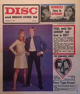 jimi hendrix newspaper/disc music echo 4/2/67
