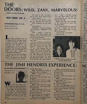 jimi hendrix magazines collector/teen date book february 1968