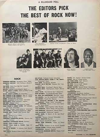 jimi hendrix magazines 1970 / billboard section 2 / november 14, 1970