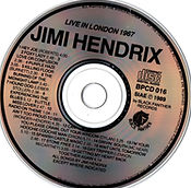 jimi hendrix collector bootlegs cds/live in london 1967 black panther 1989