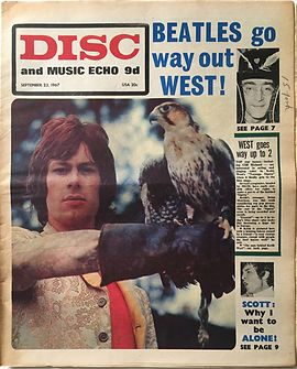 jimi hendrix collector newspapers/disc music echo 23/9/67 top30  burning of the midnight lamp/top LP/are you experienced